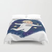 niall horan Duvet Covers featuring Space Niall by Ashley R. Guillory