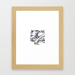 Surfing Feet Framed Art Print