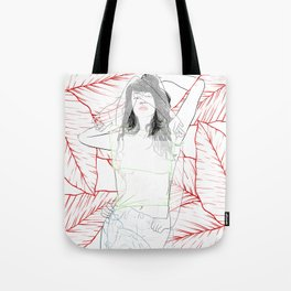 RED STRIP (combine series) Tote Bag