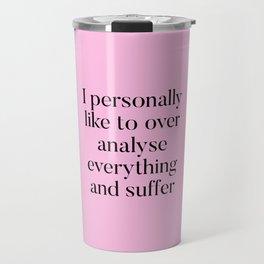 Overthinking Humour Travel Mug