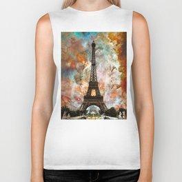 The Eiffel Tower - Paris France Art By Sharon Cummings Biker Tank