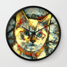 AnimalArt_Cat_20170911_by_JAMColorsSpecial Wall Clock