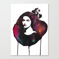 mona lisa Canvas Prints featuring Mona Lisa by Krista Luney