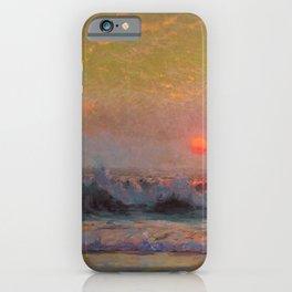 Last Sunset of Summer coastal landscape painting by Sydney Laurence iPhone Case
