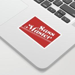 Sass Master Red Sticker