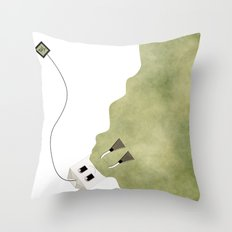 Scuba Tea Throw Pillow