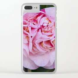 Strawberry Blonde Camellia Bloom Clear iPhone Case