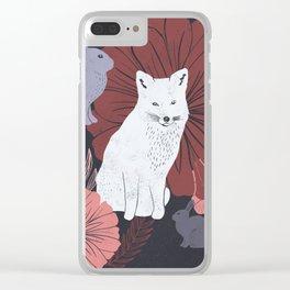 Woodland Creatures - Digital Block Print Clear iPhone Case