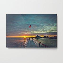 Harbor Sunset Metal Print
