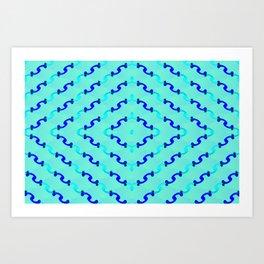 1508 Metallic waves pattern Art Print