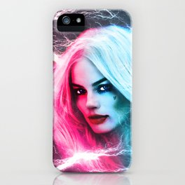 The creation of Harley Quinn - Margot Robbie iPhone Case