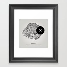 STV - Whiteout Framed Art Print