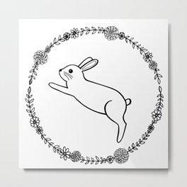 Hopping bunny Metal Print