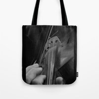 violin Tote Bags featuring Violin by SwanniePhotoArt