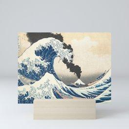 Great Wave off Kanagawa Mount Fuji Eruption Katsushika Hokusai Mini Art Print