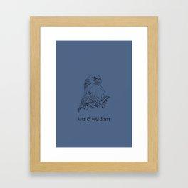 wit & wisdom (Hogwarts houses) Framed Art Print
