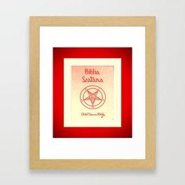 Biblia Szatana Framed Art Print