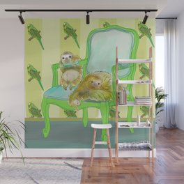 animals in chairs #6 The Sloth Wall Mural
