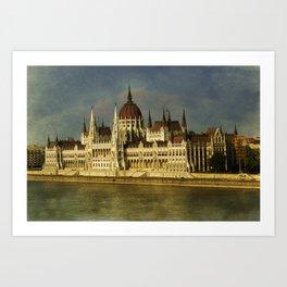 Parlament Budapest Art Print