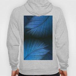 Palm leaf synchronicity - metallic blue Hoody