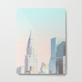 New York City Gradient Metal Print