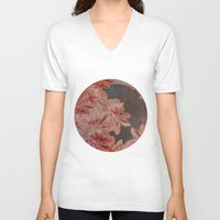 leah flores V-neck T-shirts featuring Flores by MACACOSS