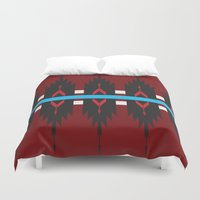 navajo Duvet Covers featuring Navajo Horizon by TheCameronCash Designs