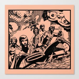 Comic X Canvas Print