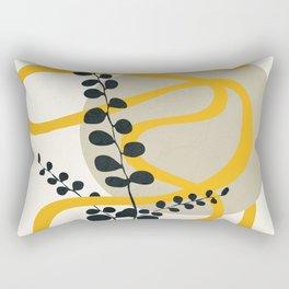 Abstract Yellow Line III Rectangular Pillow