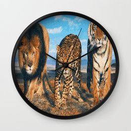 THREE BEASTS Wall Clock