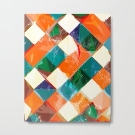 Squareific Metal Print