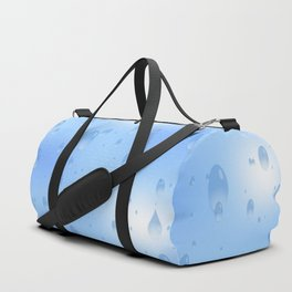 Water dops with sky background Duffle Bag