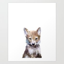 Little Wolf Art Print