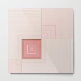 Pastel Pinks and Mints Pattern Design Metal Print