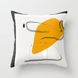 Figurative stain Throw Pillow