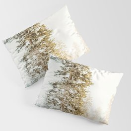 Snowy Tree | Winter Snow Forest Nature Photography Pillow Sham