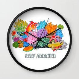 Reef Addicted Wall Clock