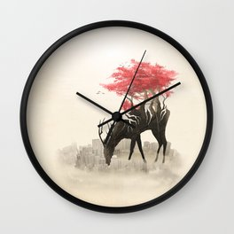 Revenge of the forest Wall Clock