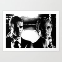 sin city Art Prints featuring Sin City by leonmorley