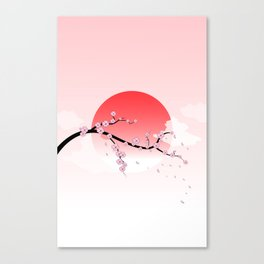 Cherry Blossoms - Pink Canvas Print