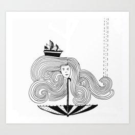 I Am My Own Umber-ella Art Print