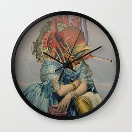 Another Portrait Disaster · the queen of flesh Wall Clock