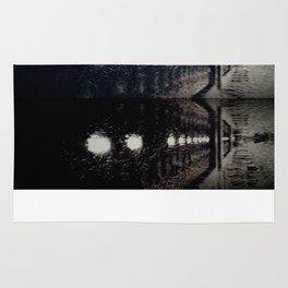 Darker Still - Fountain in Midnight and Black Rug