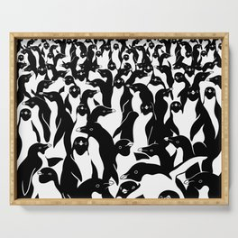 meanwhile penguins Serving Tray