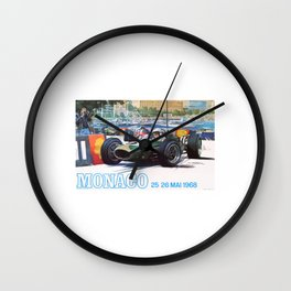 1968 MONACO Grand Prix Racing Poster Wall Clock