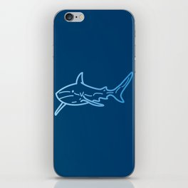 Shark wireframe iPhone Skin