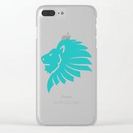 Lion's Head Logo Clear iPhone Case