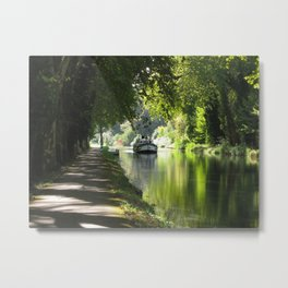 Canal de Garonne Metal Print