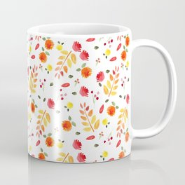 Floral Autumn Pattern Coffee Mug