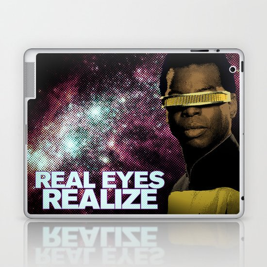 Geordi: Real Eyes Realize Laptop & iPad Skin
